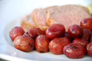 Roasted Grapes with Saba