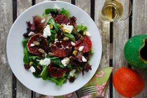Blood Orange and Goat Cheese Salad