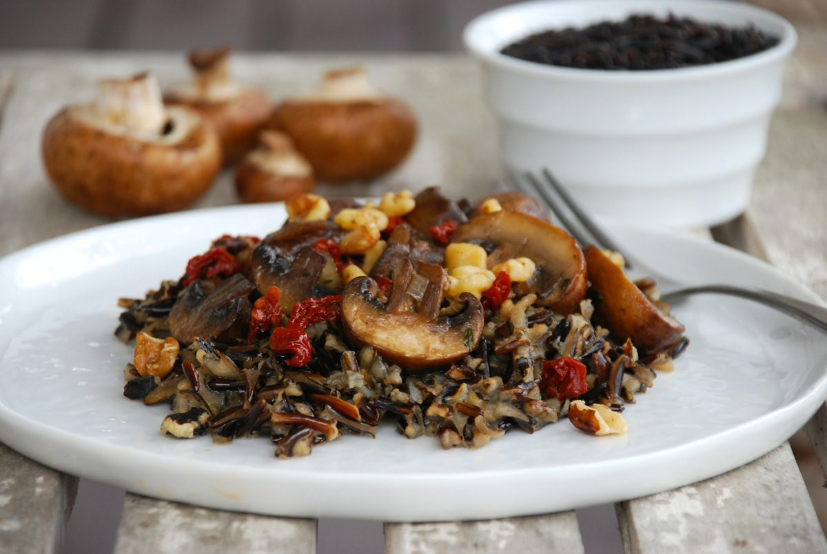 Wild Rice and Mushroom Salad for Whole Grain Sampling Day (+ a giveaway)
