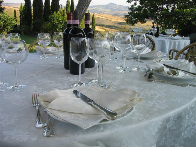 a table at our wedding reception at Chiarentana (photo credit to my brother on this one).