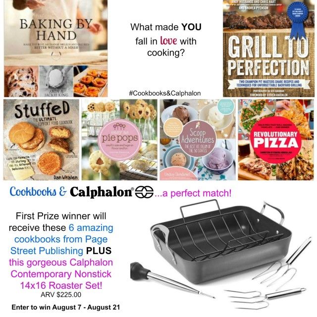 Cookbooks-and-Calphalon-roaster