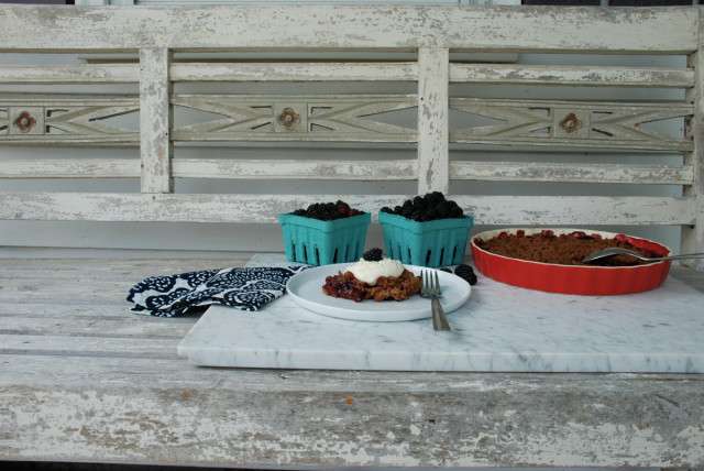 blackberry-crumble   tiny farmhouse