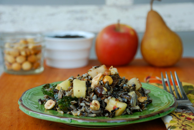 whole-grains-month-contest-wild-rice-fall-fruit-salad-2 | tiny farmhouse