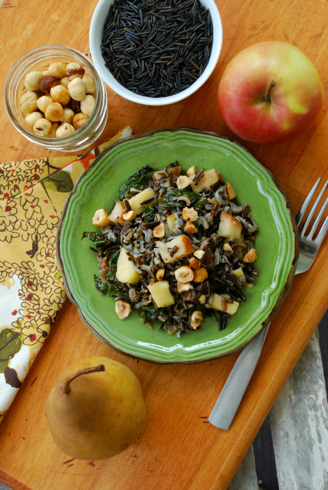 whole-grains-month-contest-wild-rice-fall-fruit-salad-from-above | tiny farmhouse