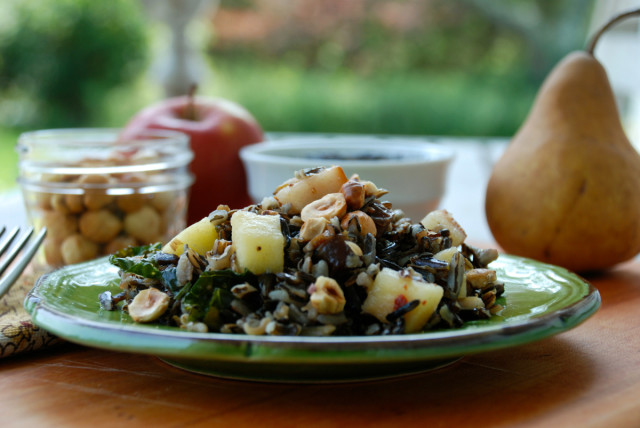 whole-grains-month-contest-wild-rice-fall-fruit-salad | tiny farmhouse