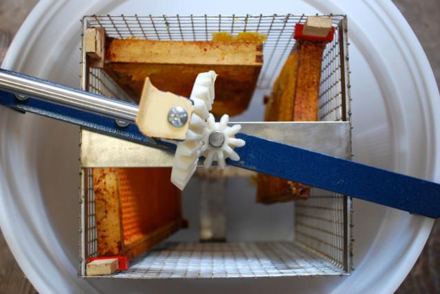 the-honey-harvest-extracting | tiny farmhouse