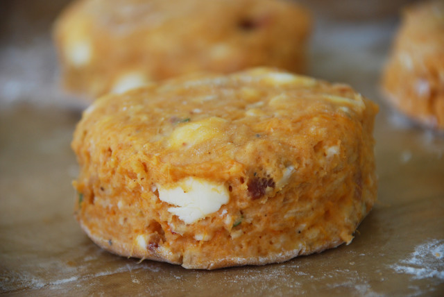 Sweet-potato-bacon-biscuit-before-cooking | tiny farmhouse