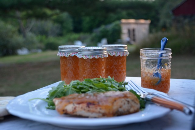 Can-it-forward-day-with-Ball-Canning-peach-rosemary-jam-jars | tiny farmhouse