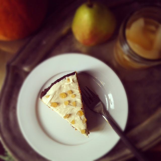 Whole Wheat Pumpkin-Pear Cake with Ginger-Cream Cheese Frosting | Tiny ...