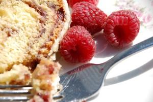 Sweet Raspberry Tea Cake and a Giveaway with HP Hood