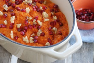 Maple-Carrot Puree with Pomegranate and Walnuts