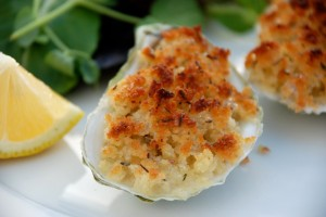 Broiled Oysters with Buttery Breadcrumbs
