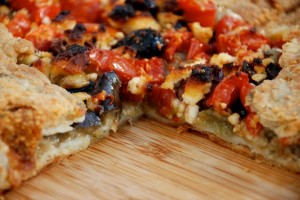 Savory Crostata: Eggplant, Tomato, and Olives